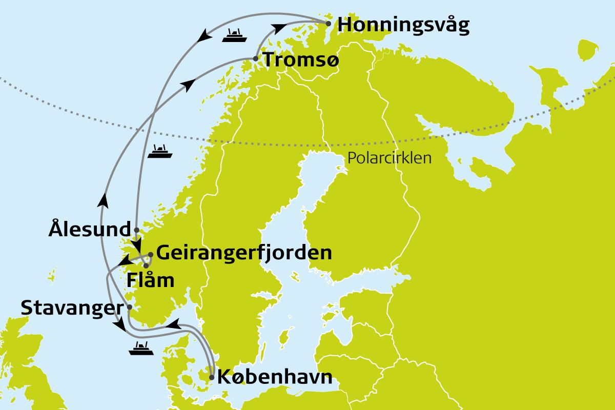krydstogt norges kyst